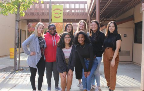 Lauren Stallings, Alyse Leigh, Claire Wong, Emily Steinhouser, Kylie James, Rahan Alemi, Jessica Ramirez, and Malaz Nour prepare for a year of hope.