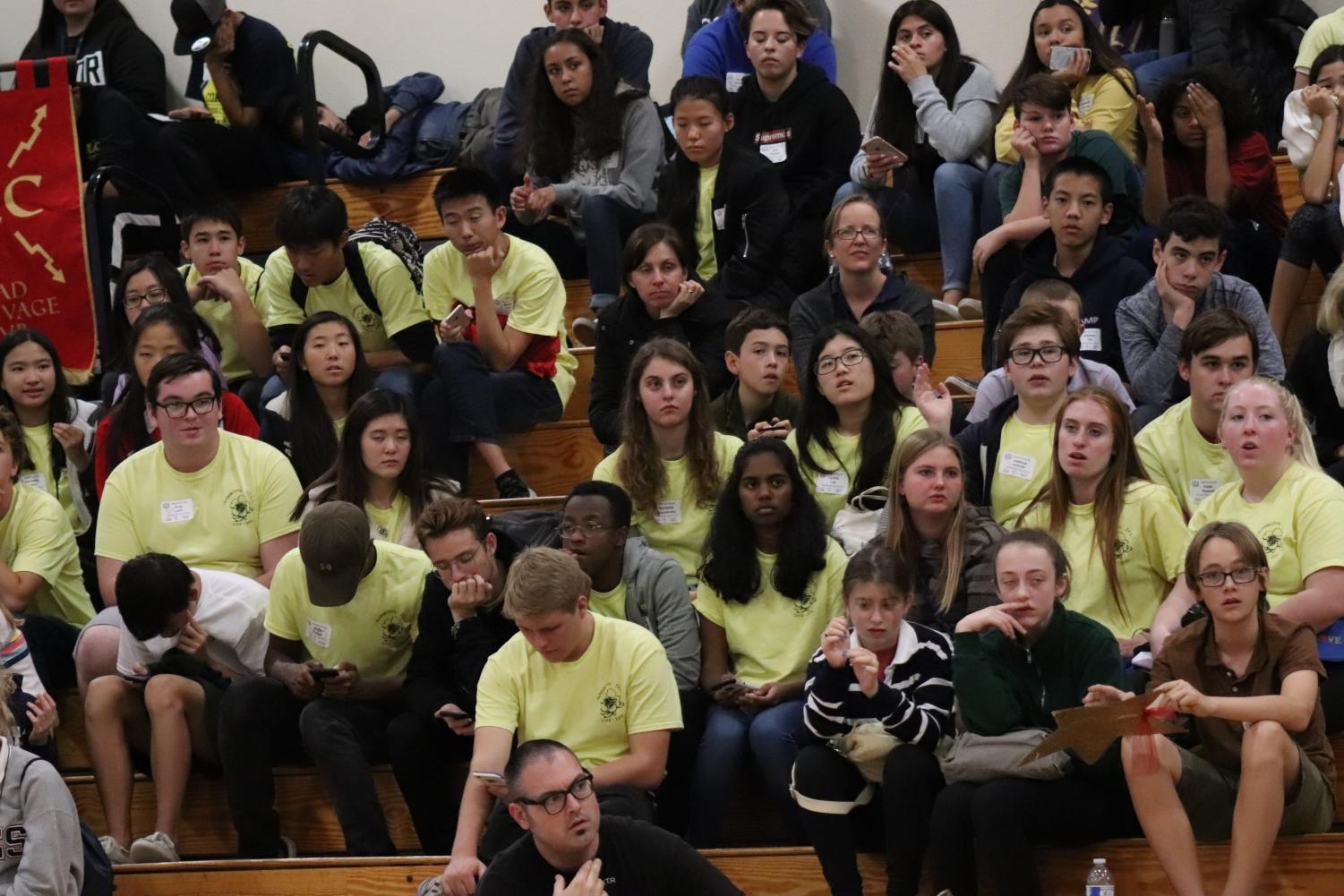Latin students attend the general assembly after SCRAM.