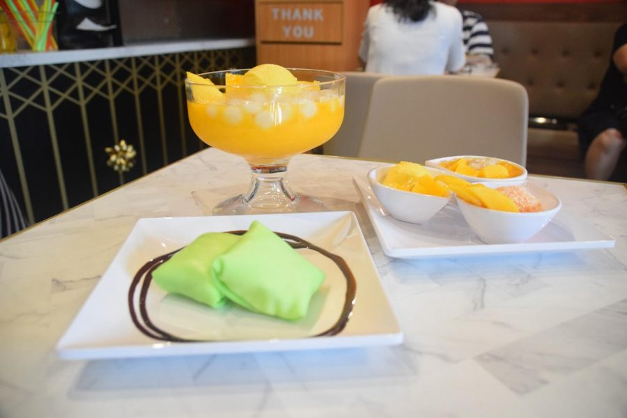 Durian pancake, Mango Romance, Jumbo Mango Chewy Ball are just a few things on the Hui Lau Shan menu.