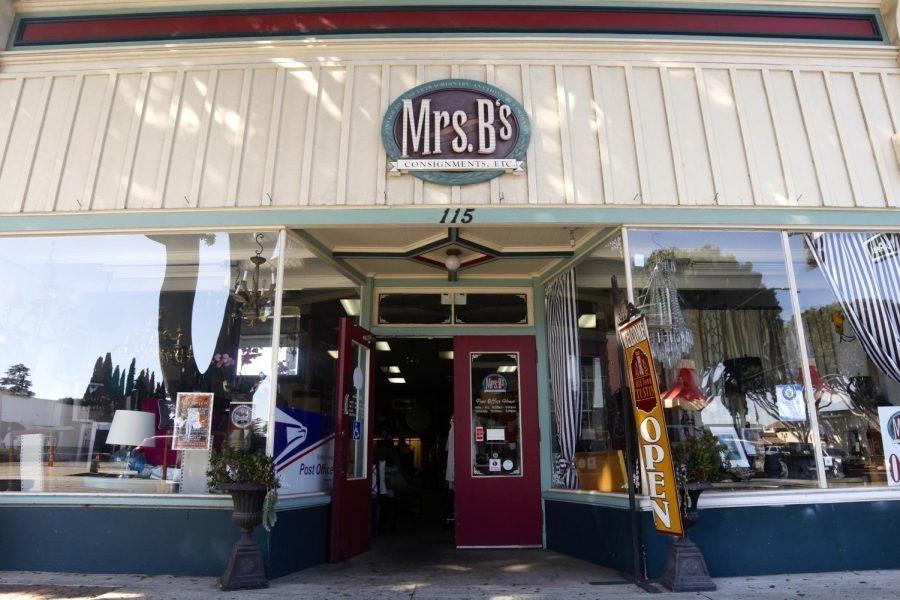 Mrs. B's Consignment is just one of the local vintage thrift shops that students can visit.