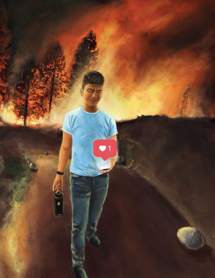 This person turns to Instagram in the midst of a fire.