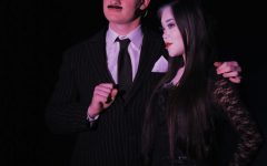 Junior Jake Morgan (left) and senior Jamie Lin (right) play the lead roles in the Addams Family.