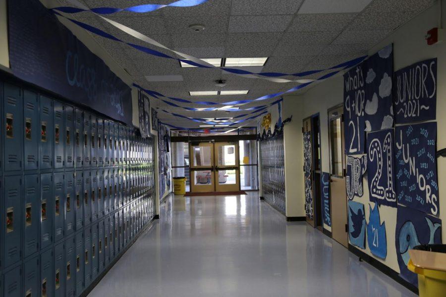 Empty halls following IUSD's coronavirus school closure statement.