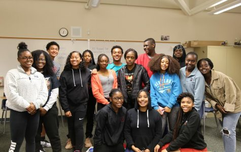 BSU poses for a picture after a discussion on African American leaders.