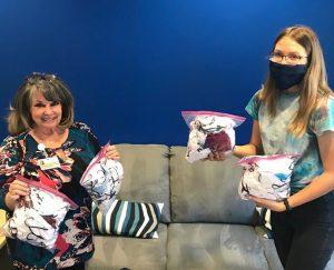 Junior Lydia Ignatova dropped off 200 masks to the Alzheimer's of Orange County