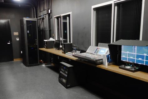 The new blackbox control room offers new state-of-the-art technology for performing arts students.